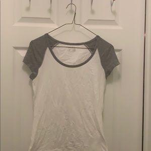 Eddie Bauer plain grey sleeved shirt